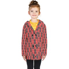Rosegold Beads Chessboard1 Kids  Double Breasted Button Coat by Sparkle