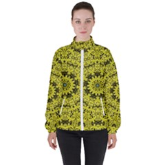 Yellow Kolodo Women s High Neck Windbreaker by Sparkle