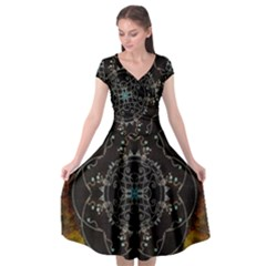 Mandala - 0005 - The Pressing Cap Sleeve Wrap Front Dress by WetdryvacsLair