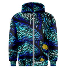 Sea-fans-diving-coral-stained-glass Men s Zipper Hoodie
