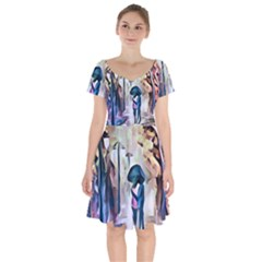 Lesamoureux Lesamoureuxpp Sans Titre Short Sleeve Bardot Dress by 300927