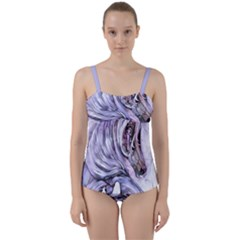 Chaval Cheval ¨| Twist Front Tankini Set by 300927