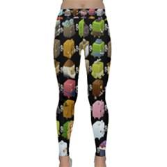 Glitch Glitchen Npc Cubimals Pattern Classic Yoga Leggings by WetdryvacsLair