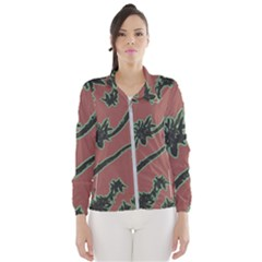 Tropical Style Floral Motif Print Pattern Women s Windbreaker by dflcprintsclothing