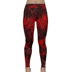 Red Abstract Classic Yoga Leggings