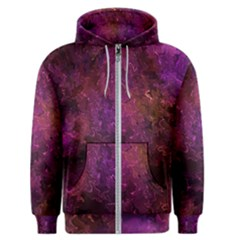Red Melty Abstract Men s Zipper Hoodie