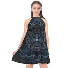 Mandala - 0007 - Complications Halter Neckline Chiffon Dress  by WetdryvacsLair