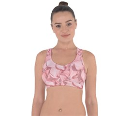 Coral Colored Hortensias Floral Photo Cross String Back Sports Bra by dflcprintsclothing