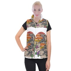 Possum - Mentally Sick Physically Thick Women s Button Up Vest