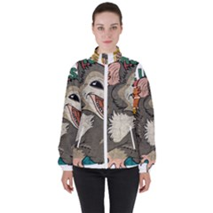 Possum - Be Urself Women s High Neck Windbreaker by Valentinaart