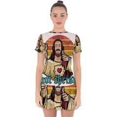 Got Christ? Drop Hem Mini Chiffon Dress by Valentinaart