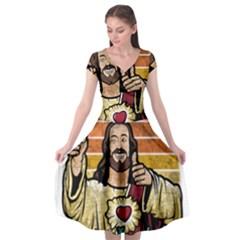 Got Christ? Cap Sleeve Wrap Front Dress by Valentinaart