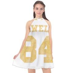 Orwell 84 Halter Neckline Chiffon Dress