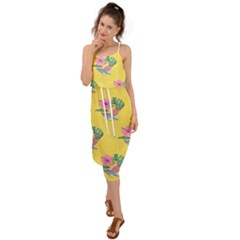 Floral Waist Tie Cover Up Chiffon Dress