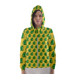 Beautiful Pattern Women s Hooded Windbreaker by Sparkle