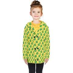 Beautiful Pattern Kids  Double Breasted Button Coat by Sparkle