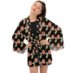 Roses Long Sleeve Kimono by grafikamaria