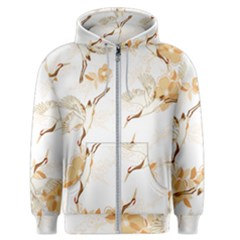 Birds And Flowers  Men s Zipper Hoodie by Sobalvarro
