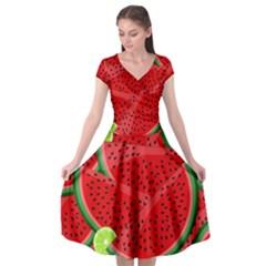 Fruit Life 3 Cap Sleeve Wrap Front Dress by Valentinaart