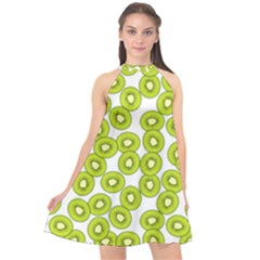 Fruit Life 4 Halter Neckline Chiffon Dress