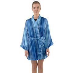 Ambient 1 In Blue Long Sleeve Satin Kimono
