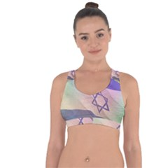 Israel Cross String Back Sports Bra by AwesomeFlags