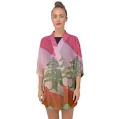 Lebanon Half Sleeve Chiffon Kimono