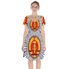 Volkspolizei Badge Short Sleeve Bardot Dress by abbeyz71