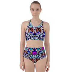 Sugar Skull Pattern 2 Racer Back Bikini Set