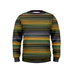 Multicolored Linear Abstract Print Kids  Sweatshirt