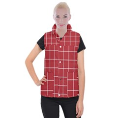 Red Buffalo Plaid Women s Button Up Vest by goljakoff