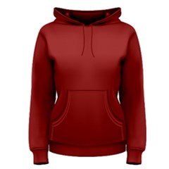 Color Dark Red Women s Pullover Hoodie by Kultjers