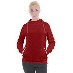 Color Dark Red Women s Hooded Pullover by Kultjers