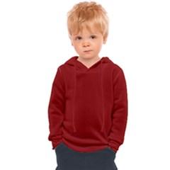 Color Dark Red Kids  Overhead Hoodie by Kultjers