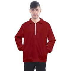 Color Dark Red Men s Half Zip Pullover by Kultjers
