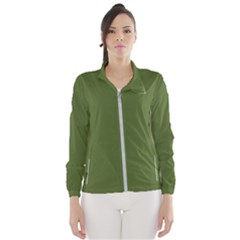 Color Dark Olive Green Women s Windbreaker by Kultjers