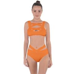 Color Pumpkin Bandaged Up Bikini Set  by Kultjers