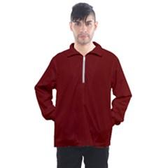 Color Blood Red Men s Half Zip Pullover by Kultjers