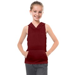 Color Blood Red Kids  Sleeveless Hoodie by Kultjers