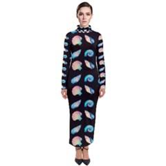 Sea Shells Turtleneck Maxi Dress