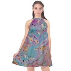 My Pour Cup Painting 7 2 Cbdoilprincess    3e784cd8-e6d8-4a8a-b63e-e3fb6a978394 Halter Neckline Chiffon Dress  by CBDOilPrincess1