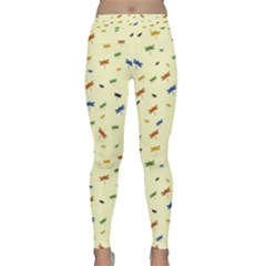 Dragonfly On Yellow Classic Yoga Leggings by JustToWear