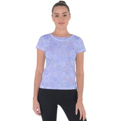 Circle Short Sleeve Sports Top  by SychEva