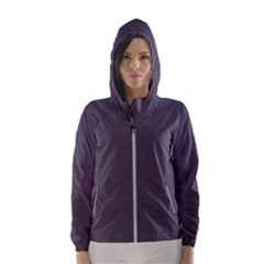 Graphite Grey Women s Hooded Windbreaker by FabulousChoice