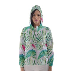 Palm Trees By Traci K Women s Hooded Windbreaker by tracikcollection