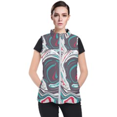Vector Vivid Marble Pattern 1 Women s Puffer Vest by goljakoff