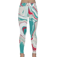 Vector Vivid Marble Pattern 4 Classic Yoga Leggings by goljakoff