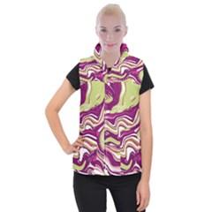 Vector Vivid Marble Pattern 5 Women s Button Up Vest