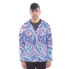 Vector Vivid Marble Pattern 10 Men s Hooded Windbreaker