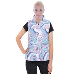 Vector Vivid Marble Pattern 11 Women s Button Up Vest